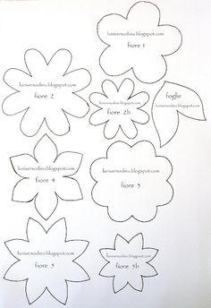 Moldes flores diversas