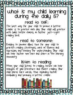 Daily 5 parent info