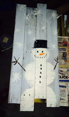 Pallet wood Christmas craft - paint the nativity - display on stage