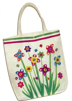Flower Garden Button Tote