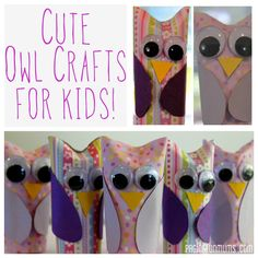 Cute Owl Crafts For Kids!
