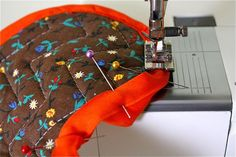 How to Sew On Bias Tape--always good to be reminded of how best to do this!