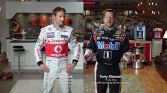 "Mobil 1 Tony Stewart & Jenson Button ""Bike Race"" Commercial"