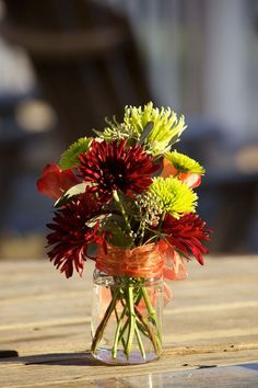 Flowers and a mason jar