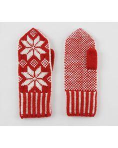 cute mittens ! #mittens #red #white