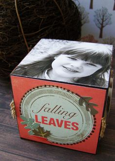 Echo Park Fall fever photocube tutorial  Get the collection at #craftysteals