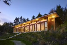 +HOUSE, situated on a stream-fed pond in Mulmur, Ontario by Superkül Inc Architect