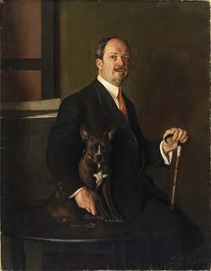 Portrait of Ernest Lee Major, 1910, Samuel Burtis Baker, oil on canvas, 48 1/8 x 37 1/4 in. (122.1 x 94.5 cm.), Smithsonian American Art Museum, Gift of the students of Ernest Lee Major, 1952.11.2