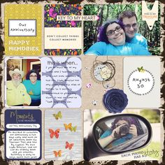 Treasured Memories by Brenda Hollingsworth Made with the Buried Treasure bundle from PixelScrapper.com