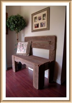 Reclaimed Wood Bench. Charming Rustic Furniture. Country Home Decor. Fall Entry Bench. Wooden Bench. Farm House Bench on Etsy, $350.00