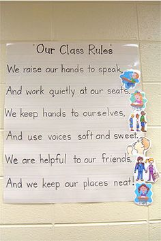 Class Rules - love this poem, make poster of this