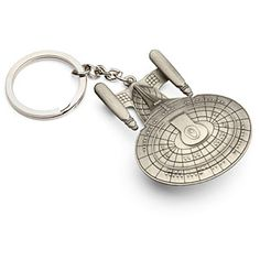 Darmok, his keys held  Is that a flagship in your pocket?  Yes, yes it is!  Screen-accurate, zinc-steel alloy with pewter finish  Think Geek