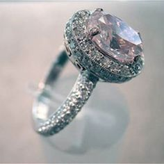 a new ring (pink diamond of course)
