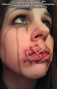 Halloween facepaint.