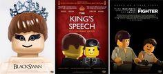 Lego Black Swan Poster. Lego The Kings Speech Poster. Lego The Fighter Poster