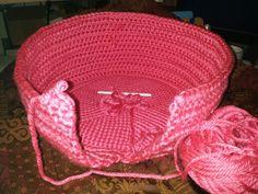 In progress: Crochet Pouf