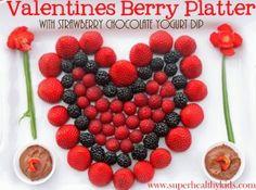 berri platter, healthi idea, daili healthi, delish food, famili dessert, valentin berri, blog, kid, berries