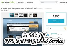 5x 30% Off PSD to HTML5/CSS3 Service from Ahmad Hania, #CSS, #CSS3, #FrontEnd, #Giveaway, #HTML, #HTML5, #Layout, #PSD, #PSD_to_HTML, #PSD_to_HTML5, #Service, #Template, #Web #Development