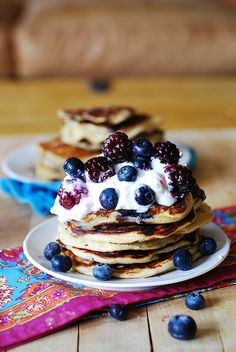 Greek yogurt pancakes by juliasalbum #Pancakes #Greek_Yogurt