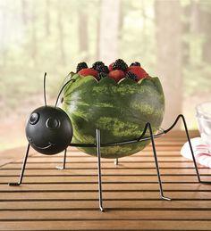 Metal Ladybug Watermelon Holder