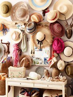 Just hang the sun hats.