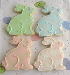 Bunny Cookies - Easter Cookies - Baby Shower Cookies - 1 Dozen. $34.99, via Etsy.