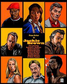 Jackie Brown-Inspired Art fan art, quentin tarantino, movi poster, awesom movi, jackie brown poster, films, fanart poster, jacki brown, posters