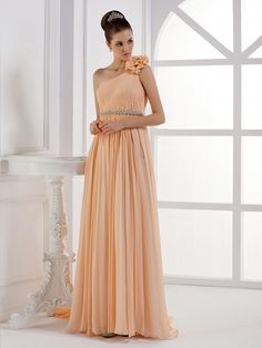 One Shoulder A Line Pretty Dress For Bridesmaids