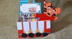 Learn how to make Daniel Tiger Trolley Favor Boxes from tea boxes! (via @Patti Stamp Parents)