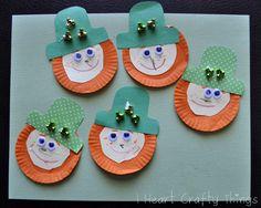 Little Leprechauns Craft using orange cupcake liners