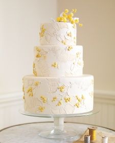 This bright yellow and white wedding cake is as timeless now as it was when we created it with Ron Ben-Israel in Spring 2010.