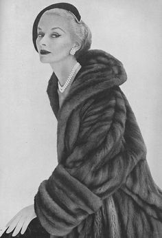 Ciao Bellissima - Vintage Glam; Lisa Fonssagrives-Penn, photo by Irving Penn for Vogue September 1951 vintag, septemb vogu, fashion, lisa fonssagrivespenn, fur, irving penn, vogu 1951, september, mink coat
