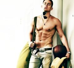 Channing Tatum, you forgot your shirt!! Oh well.