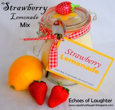 Echoes of Laughter: Summer Drinks Week: Strawberry Lemonade Mix...