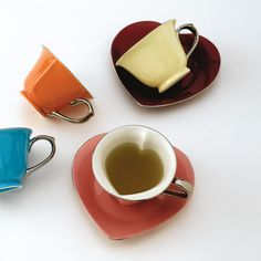 Heart Cups and Saucers by Yedi Houseware. My idea of sweet tea.