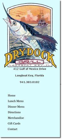 Restaurants, Dry Dock Waterfront Grill, Outdoor Dining, Sarasota, Florida