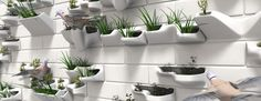 animals, bricksbird, green wall, 3dprint, planter brick
