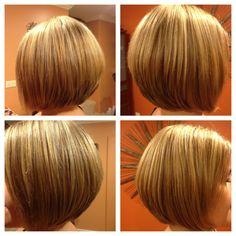 Bob Haircut With Blonde Highlights