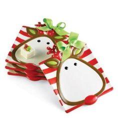 Reindeer Dessert Plate - Holiday | Shop Glitzy Glam