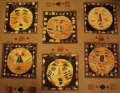 symmetrical African masks craft