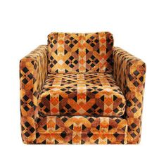 70s Plush Geometric Armchair now featured on Fab.