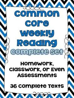 4th/5th Grade Common Core Weekly Reading