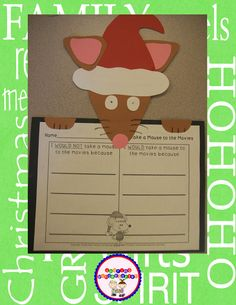 Classroom Freebies: Take a Mouse to the Movies Art Tracers