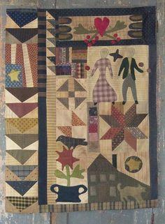 payn quilt, payn saffiot, folk art, cheri quilt, cheri payn, quilt inspir, small quilt, quilt idea