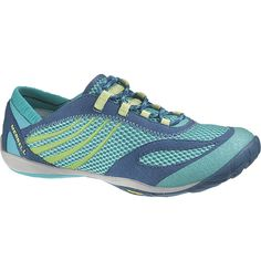 Merrell Women's Pace Glove - Barefoot Trail Running Shoes in blue and green $100