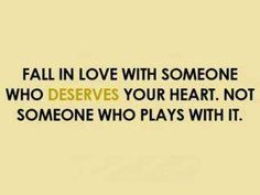 """Fall In Love With Someone Who..."""