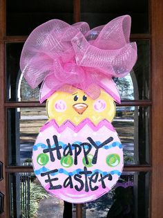Sweet Chick Door Hanger by BronwynHanahanArt on Etsy, $45.00