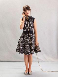 peopl, fashion, polka dots, dresses, the dress, zooeydeschanel, zooey deschanel, new girl, style blog