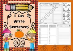 I Can Write Sentences - Fall - Halloween - Thanksgiving! Enter for your chance to win 1 of 4.  I Can Write Sentences - Fall - Halloween - Thanksgiving (33 pages) from Readable Creations on TeachersNotebook.com (Ends on on 10-28-2014)  This interactive pack comprises three sections � Fall, Halloween and Thanksgiving. There is a choice of 2x3 different writing pages (and corresponding flaps) for each section: two line options for the 5-tab, 2-tab, and 1-tab pages. Also there is a themed ...