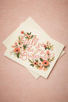 Blooming Bridesmaid Card from BHLDN